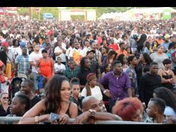 Patrons at Reggae Sumfest 2018.