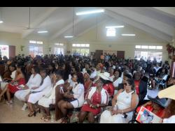 Mourners packed the South Side Church of Christ in York Town, Clarendon, to pay their last respects to Franklyn Paisley.