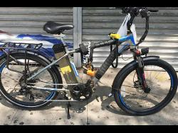 An electric bike relies on an electric motor and battery for movement.