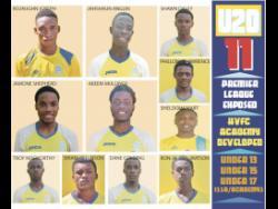 Members of the 2020-21 Harbour View FC senior team.