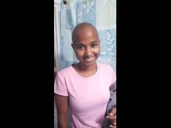 Chemotherapy caused Kaydia Levien to go bald.