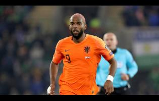 Netherlands' Ryan Babel runs during the Euro 2020 Group C qualifying match between Northern Ireland and the Netherlands at Windsor Park, Belfast, Northern Ireland, Saturday, November 16, 2019.