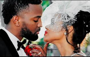 Konshens and his wife Latoya.