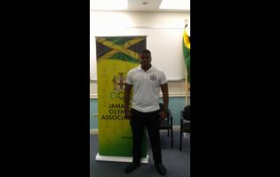 Local weightlifter Soneil Ellington at the launch of the Jamaica Weightlifting Federation at the Jamaica Olympic Association headquarters in Kingston on Tuesday, January 14, 2020.