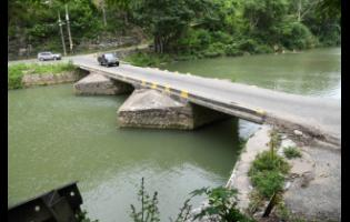 Numerous vehicles have plunged into the Rio Cobre from the Flat Bridge, which is pictured here.