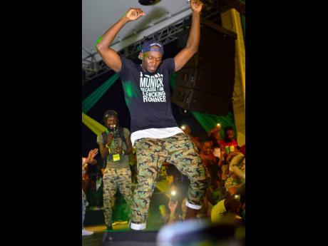 Usain Bolt shows his dancing skills at I love Soca at Sabina Park.
