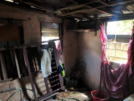Dixon's one-bedroom house was destroyed by the fire.