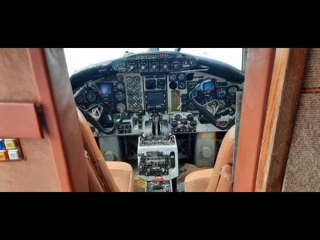 A look inside the twin-engine plane.