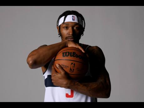 Washington Wizards guard Bradley Beal poses for a photograph during the NBA basketball media day yesterday.